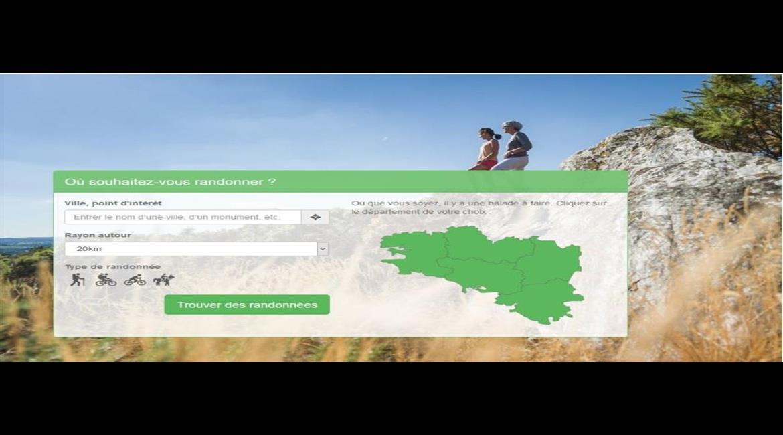 WEB  : Un nouveau site pour randonner en Bretagne